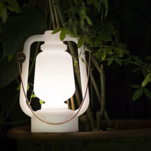 Tafellamp Storm wit Qazqa