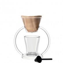 Leonardo Duo slow coffee maker met dubbelwandig koffieglas