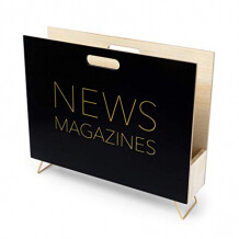 Balvi tijdschriftenhouder NEWS zwart