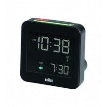 Braun digitale reiswekker BNC009-zwart-Radio controlled