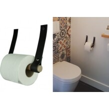 Handles and more toiletrolhouder Zwart