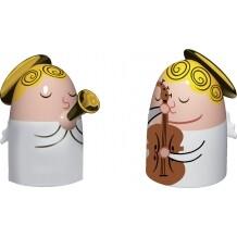 Alessi kerstfiguren Angels Band set 1