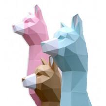 Assembli Alpaca paper kit DIY trofee Soft Mint