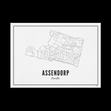 Wijck Zwolle Assendorp poster 40 x 50 cm