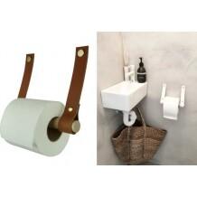 Handles and more toiletrolhouder Cognac