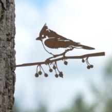Metalbird vogelsilhouet Kuifmees