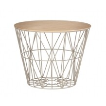 Ferm Living Wire Basket Top geolied eiken medium