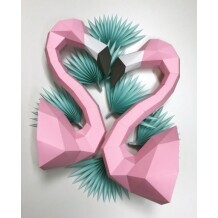 Assembli flamingo paper kit DIY