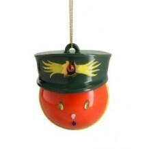Alessi kerstbal Faberjori Generale Corallo