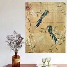 IXXI muurdecoratie Panel from a Chinese wallpaper brown