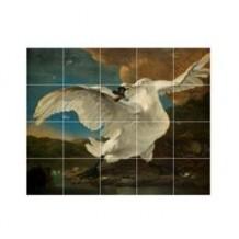 IXXI The Threathened Swan muurdecoratie