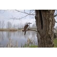 Metalbird vogelsilhouet Kookaburra