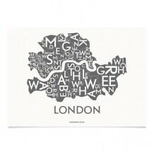 Kortkartellet Londen poster 50 x 70 cm