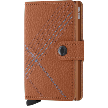 Secrid Mini wallet Stitch Linea Caramello