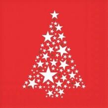 Servetten Fir tree with stars