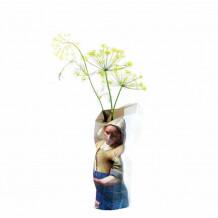Paper Vase cover melk meisje Vermeer