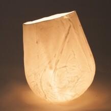 MALproduct Plooi staand windlicht porselein