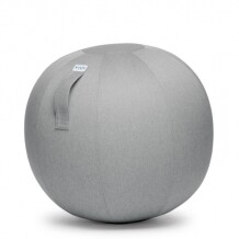 Vluv Leiv zitbal Silver grey-H 60-65 cm