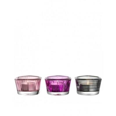 Leonardo Vario waxinelichthouders warme kleuren 3 stuks