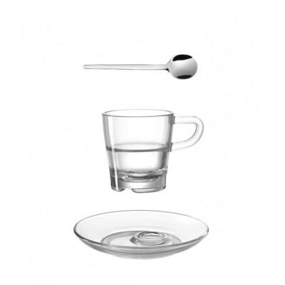 Leonardo Senso Espressokop, -schotel en koffielepeltje- 3-Delige set