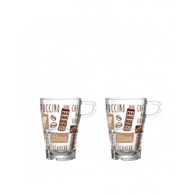 Leonardo La Vita latte macchiatobeker - 2 stuks
