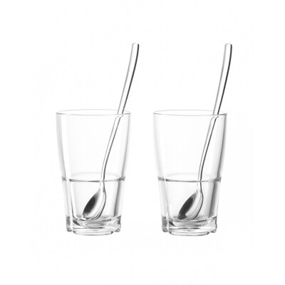 Leonardo Senso Latte Macchiatto glazen transparant 4 delig