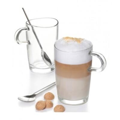 Leonardo Loop Latte Macchiato set glazen met koffielepels