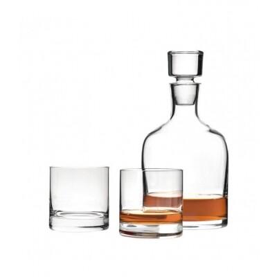 Leonardo Whisky karaf met twee glazen Ambrogio