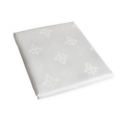 KOOK Tafelkleed Damast Polyester Wit 140/240