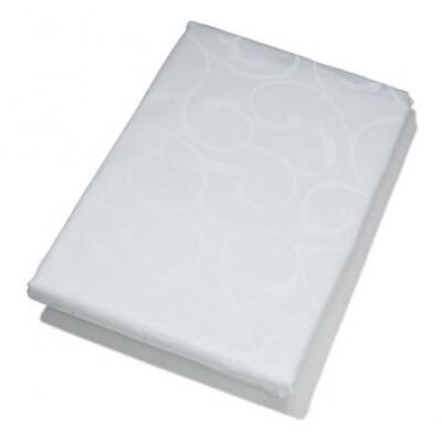 KOOK tafelkleed Damast wit 160 x 300 cm