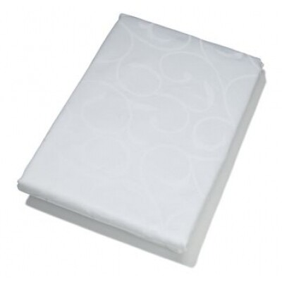 KOOK tafelkleed Damast wit rond 180 cm