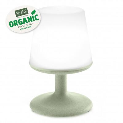 Koziol Light to Go Organic green oplaadbare lamp met powerbank