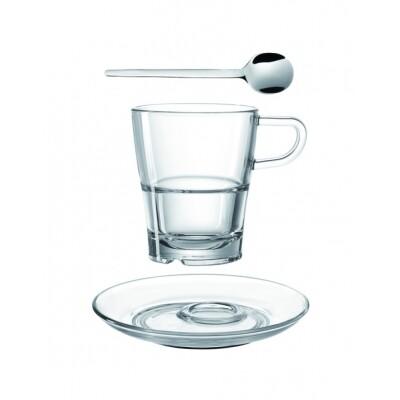 Leonardo Senso Koffiekop, -schotel en koffielepeltje- 3-Delige set