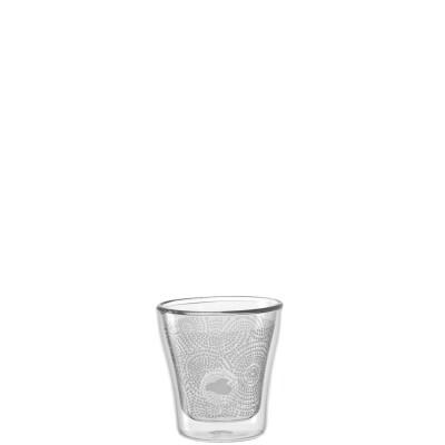 Leonardo Duo Dubbelwandig Espressoglas met decor Set van 2 glazen