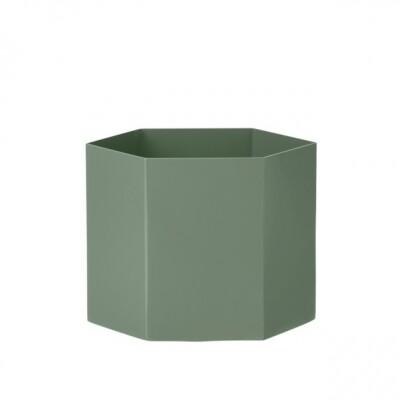 Ferm Living Hexagon Pot plantenbak extra large Dusty Green