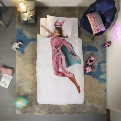 Snurk dekbedovertrek Superhero Pink