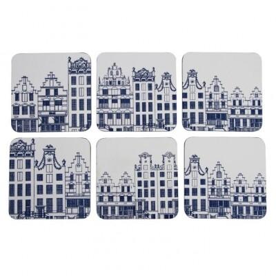 &k Onderzetters Amsterdam set 6 stuks