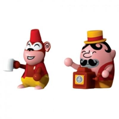 Alessi kerstfiguren Jimmy Melody en Monkey Money