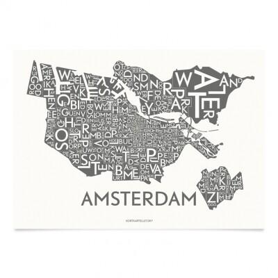 Kortkartellet Amsterdam poster 50 x 70 cm