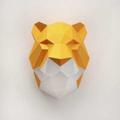 Assembli Tijger paper kit DIY trofee