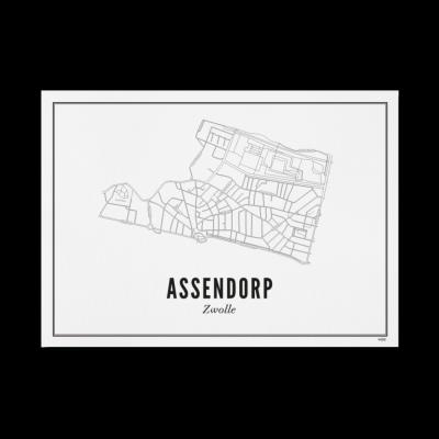 Wijck Zwolle Assendorp poster A3 30 x 40