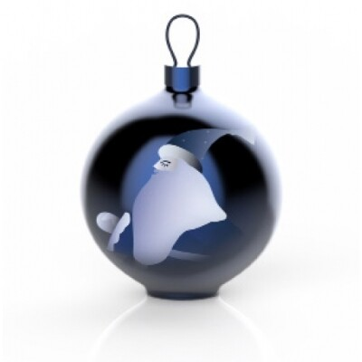 Alessi Blue Christmas kerstbal Babbo