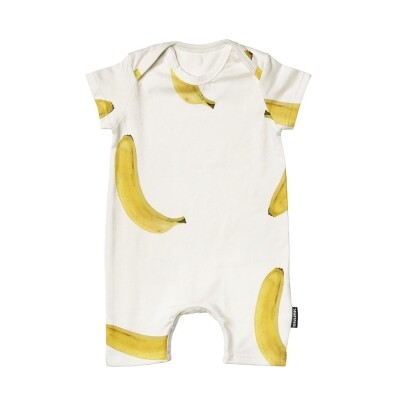 Snurk baby jumpsuit Bananas