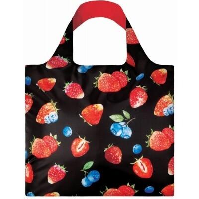 Loqi opvouwbare draagtas Aardbeien