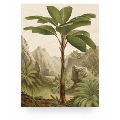 KEK Amsterdam Print op hout Banana Tree small