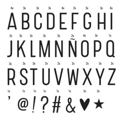 Lightbox symbol set 'basic' A Little Lovely Company