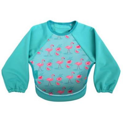 Bibetta mouwslab Flamingo Helderblauw
