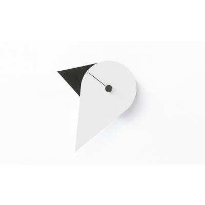 Birdie wandklok zwart/wit Joris Sparenberg