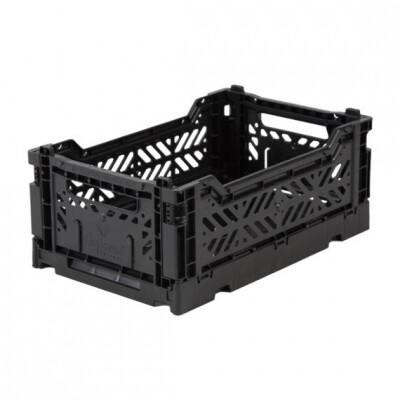 Folding Crates Mini zwart Eef Lillemor Ay-kasa