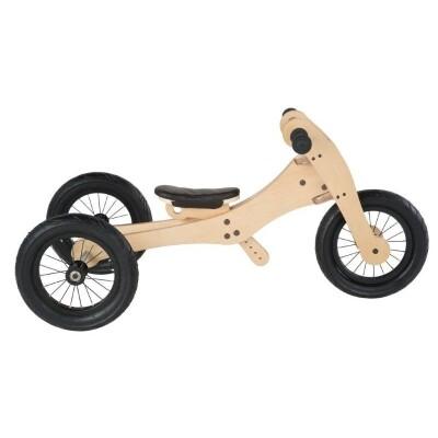 Trybike hout 3 in 1 loopfiets bruin